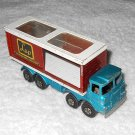Freight Liner - #K14 - Matchbox - Super Kings - Blue, Orange & White - Metal - 1971