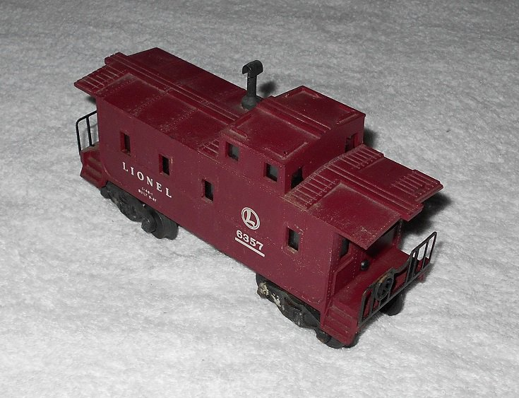 Lionel - Caboose - #6357 - O Scale - Dark Red - Vintage