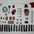 Model Train Parts & Accessories - 43 Piece Collection - Vintage