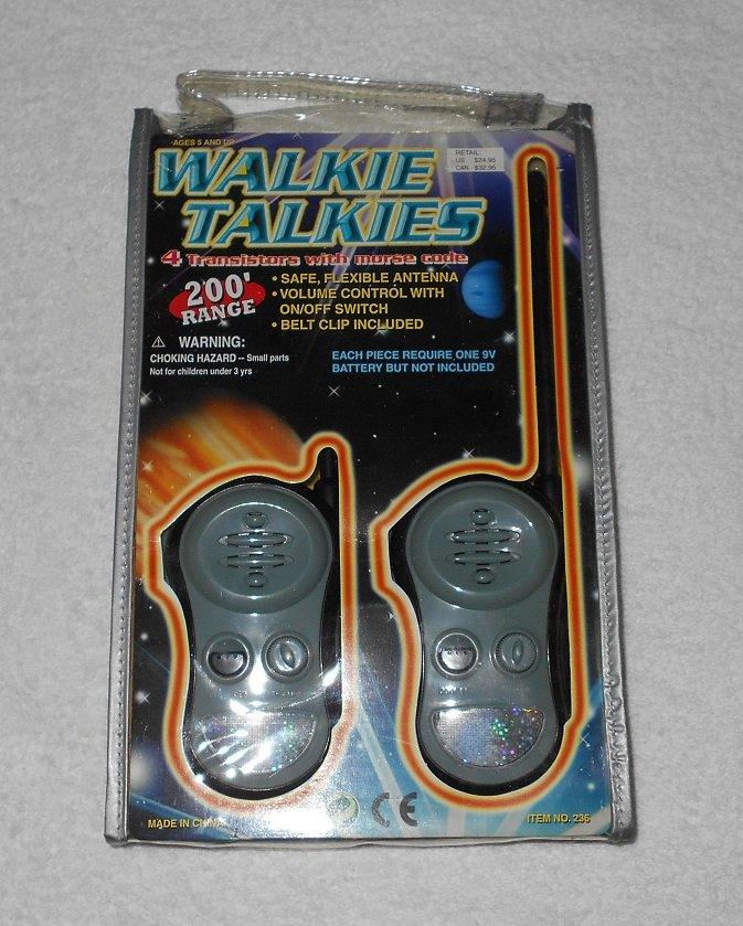 Toytech - Walkie Talkies - Set Of 2 - Grey - Includes Original Case - 2001