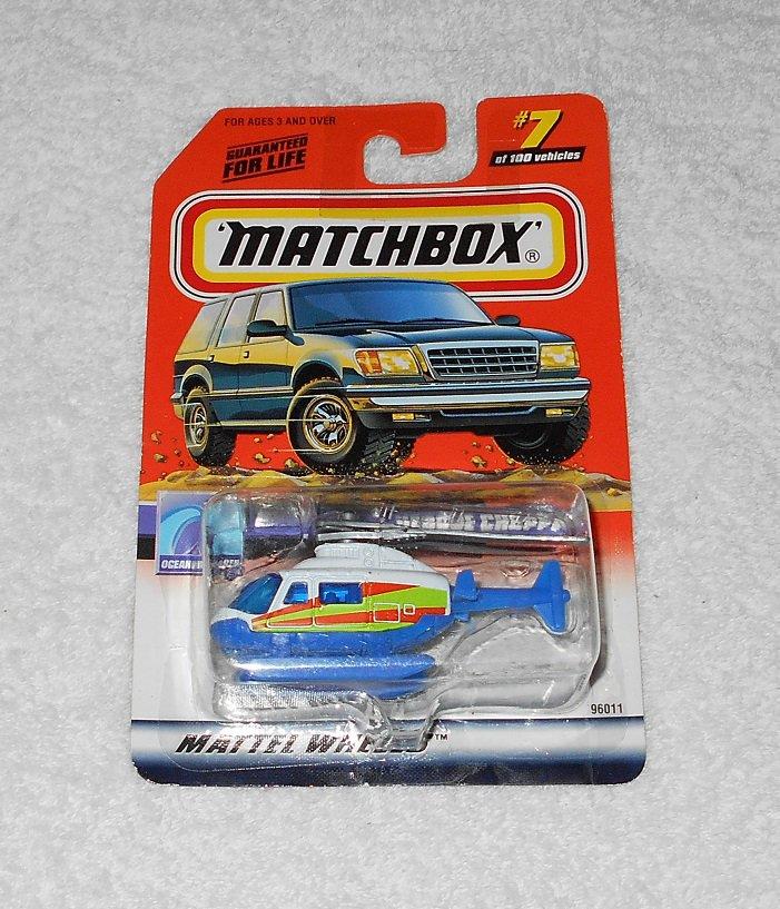 Matchbox - Rescue Chopper - #7 - White & Blue - 1999 - New
