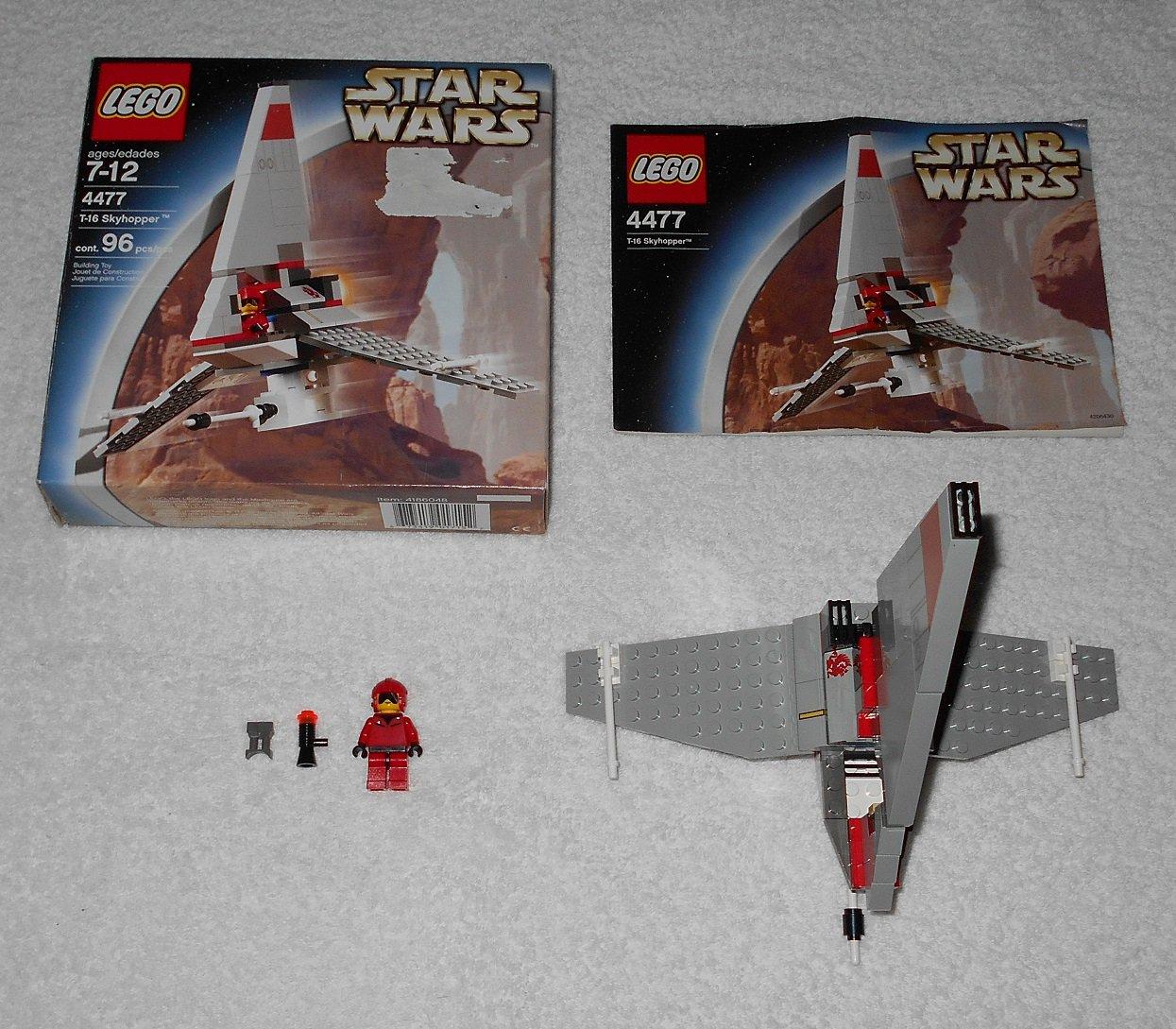 LEGO 4477 - T-16 Skyhopper - Star Wars - 2003 - Complete Set w/ Instructions & Box
