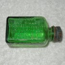Antrol - Ant Killer - Empty Green Glass Bottle - Includes Lid - Needs To Be Cleaned