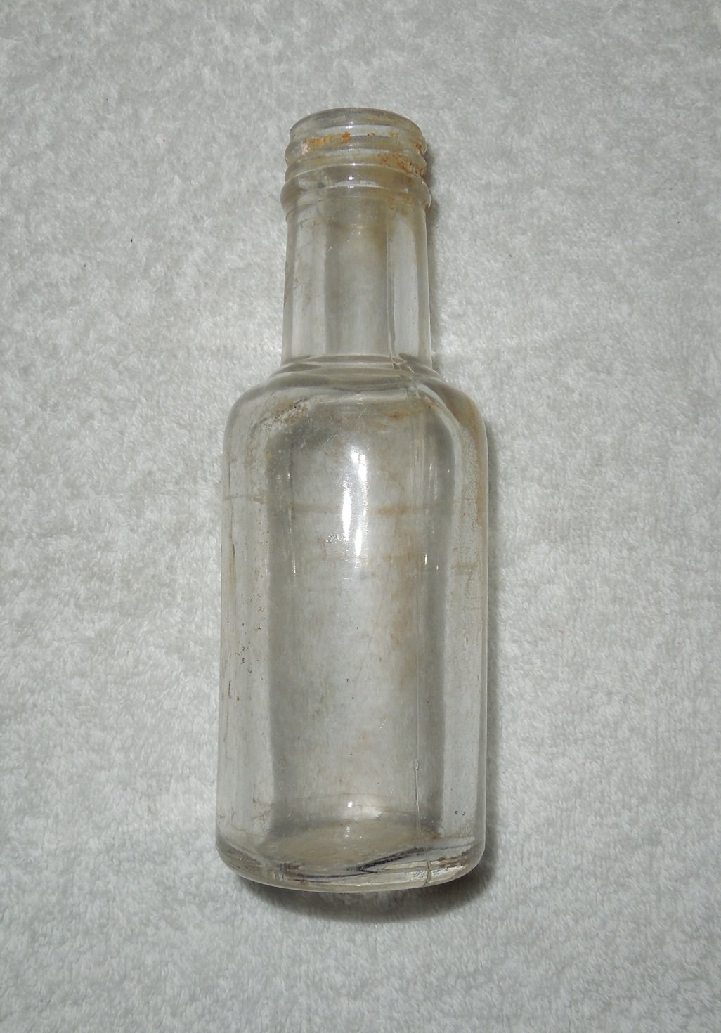 Tournades Kitchen Bouquet - Empty Clear Glass Bottle - Lid Missing - Needs To Be Cleaned