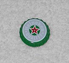Heineken - Bottle Cap Shaped Pin - Green, Grey & Red - Light Up Center - New