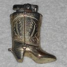 Continental Lighter - Sculpted Cowboy Boot - Silver Plated