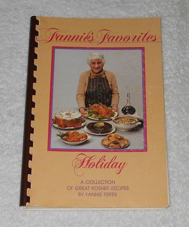 """""""Fannie's Favorites: Holiday"""" by Fannie Fertik (1985, Jewish Exponent; ISBN 09614488808)"""