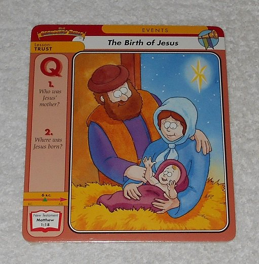 """""""The Beginners Bible: The Birth Of Jesus"""" by James Leininger (1997, Grolier Books)"""