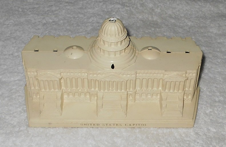United States Capitol - Coin Bank - White - Plastic