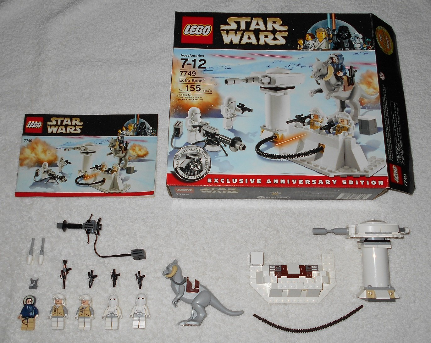Lego 7749 Echo Base Star Wars 2009 Complete Set W 10720 Juniors Police Helicopter Chase Instructions Box