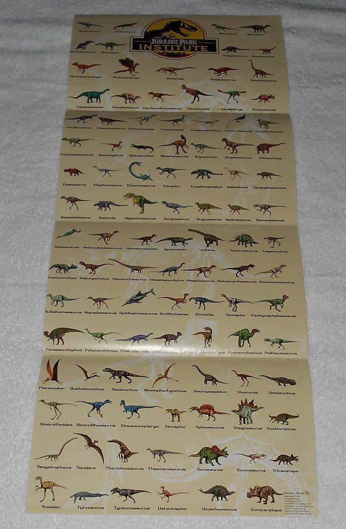 Jurassic Park Institute Poster - Dinosaurs - Robert Walters - Random House - 2001