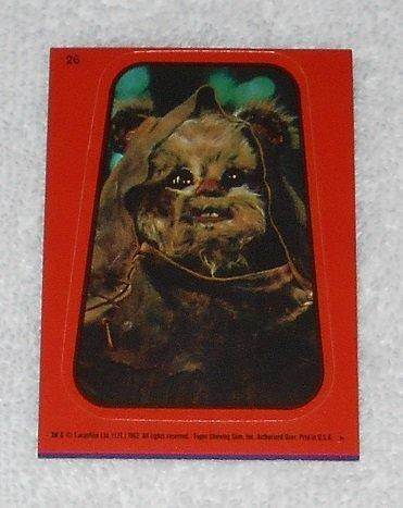 Ewok - Sticker # 26 - Star Wars - Return Of The Jedi - Topps - 1983