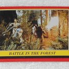 Battle In The Forest - Card # 112 - Star Wars - Return Of The Jedi - Topps - 1983