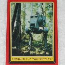 Chewbacca Triumphant - Card # 110 - Star Wars - Return Of The Jedi - Topps - 1983