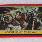 Observed By The Ewoks - Card # 102 - Star Wars - Return Of The Jedi - Topps - 1983