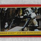 Biker Scout And The Battlefield - Card # 97 - Star Wars - Return Of The Jedi - Topps - 1983