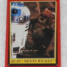 R2-D2  Meets Wicket - Card # 91 - Star Wars - Return Of The Jedi - Topps - 1983