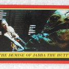 The Demise Of Jabba The Hutt - Card # 46 - Star Wars - Return Of The Jedi - Topps - 1983