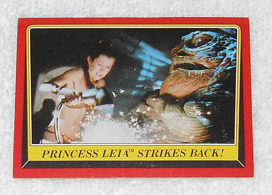 Princess Leia Strikes Back - Card # 45 - Star Wars - Return Of The Jedi - Topps - 1983