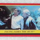 Facing Jabba The Hutt - Card # 37 - Star Wars - Return Of The Jedi - Topps - 1983
