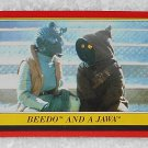 Beedo And A Jawa - Card # 19 - Star Wars - Return Of The Jedi - Topps - 1983