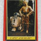 C-3PO And R2-D2 - Card # 8 - Star Wars - Return Of The Jedi - Topps - 1983