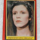 Princess Leia Organa - Card # 5 - Star Wars - Return Of The Jedi - Topps - 1983