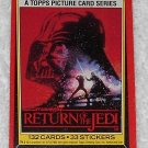 Title Card - Card # 1 - Star Wars - Return Of The Jedi - Topps - 1983