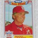 Whitey Herzog - Card # 12 - Topps - Baseball - 1983 All Star Game Commemorative Set