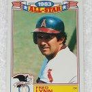 Fred Lynn - Card # 7 - Topps - Baseball - 1983 All Star Game Commemorative Set