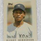 Rickey Henderson - Card # 27 - Topps - Baseball - Major League Leaders - 1986