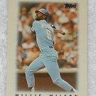 Willie Wilson - Card # 22 - Topps - Baseball - Major League Leaders - 1986