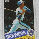 Cecil Cooper - Card # 290 - Topps - Baseball - 1985