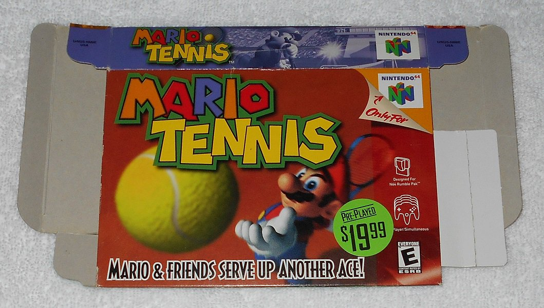 Mario Tennis - Nintendo - N64 - Box Only - 2000