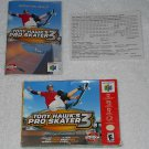 Tony Hawk's Pro Skater 3 - Nintendo - N64 - Box, Instructions & Registration Card Only - 2002
