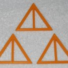 Playmobil - Yellow Triangular Window Frames (x3) - Part # 30232210 - From 3230 Vacation Home 2002