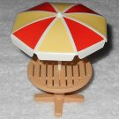 Playmobil - Picnic Table w/ Umbrella - Part # 30615350 / 30621130 - From 3230 Vacation Home 2002