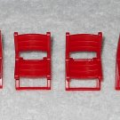 Playmobil - Red Folding Chairs (x4) - Part # 30660160 - From 3230 Family Vacation Home 2002