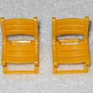 Playmobil - Yellow Folding Chairs (x2) - Part # 30657720 - From 3213 Family Van 2001