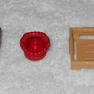 Playmobil - Bench, Basket & Crate - Part # 30095360 / 30613800 / 30096870 - From 4450 Bunny 2003