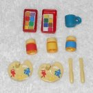 Playmobil - Painting Palettes, Brushes, Jars, Container & Cup - From 4450 Bunny Workshop 2003