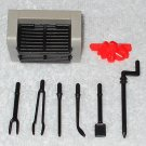 Playmobil - Barbecue Grill With Fire & Six Tools - From 3230 Family Vacation Home 2002