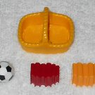 Playmobil - Soccer Ball, 2 Book Sets & Yellow Basket - From 3230 Family Vacation Home 2002