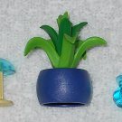 Playmobil - Flowerpot With House Plant, Lamp & Vase - From 3230 Family Vacation Home 2002