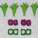 Playmobil - Cauliflower, Cabbage And Carrot Leaves - From 3124 Farm Starter Set 2001