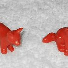 Playmobil - Red Fox Pups - Set Of Two - Part # 30612970 - From 3006 Forest Animals 1997
