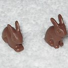 Playmobil - Rabbits - Set Of Two - Brown - Part # 30610990 - From 4450 Bunny Workshop 2003