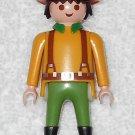 Playmobil - Farmer Man w/ Hat & Collar - Yellow Torso w/ Suspenders / Green Legs - From 3124 2001