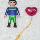 Playmobil - Tourist Boy w/ Red Balloon - Blue Torso / Green Legs - Part 30101330 - From 3135 2003