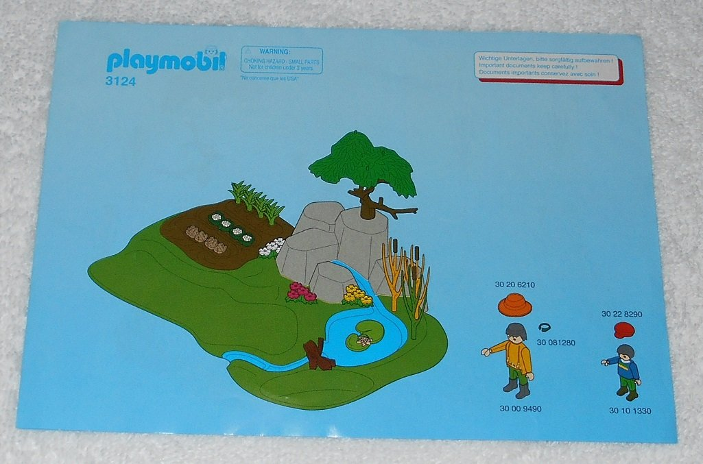 Playmobil 3124 - Farm Starter Set - 2001 - Instructions Only